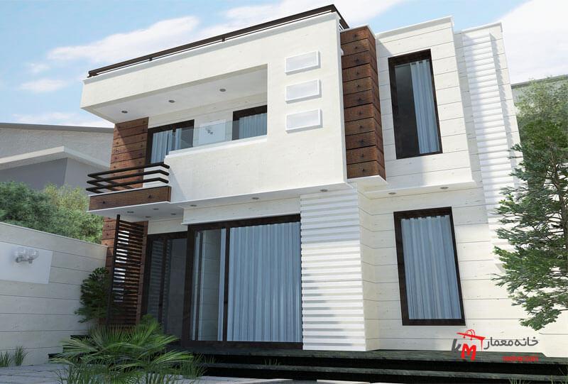 طراحی نمای ساختمان مدرن نمونه کار amodi 470.01 |خانه معمار