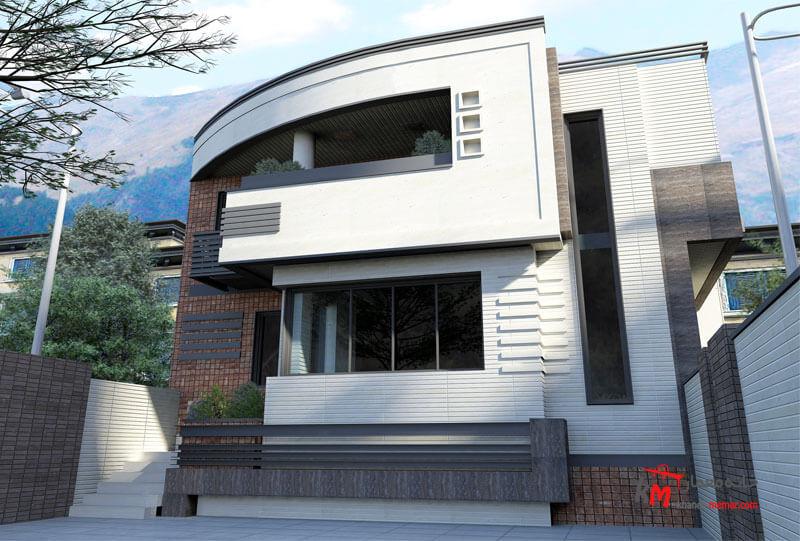 طراحی نما نمونه کار amodi 474.02 |خانه معمار