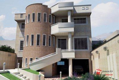 طراحی نما نمونه کار481-01 |خانه معمار
