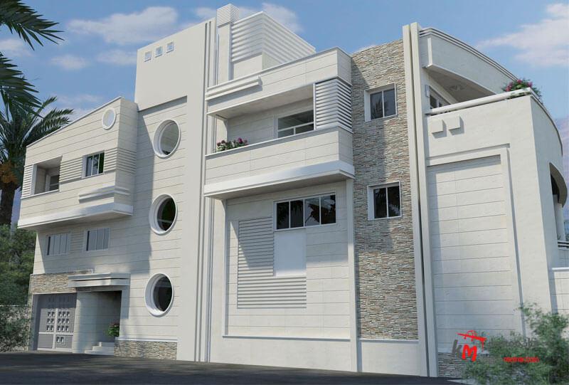 طراحی نما نمونه کار 445-01|خانه معمار