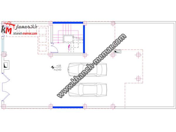 نقشه ساختمان سه طبقه 358-2