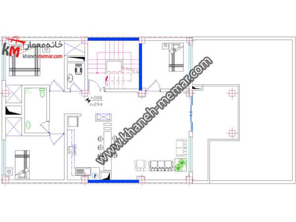 نقشه ساختمان سه طبقه 358-3
