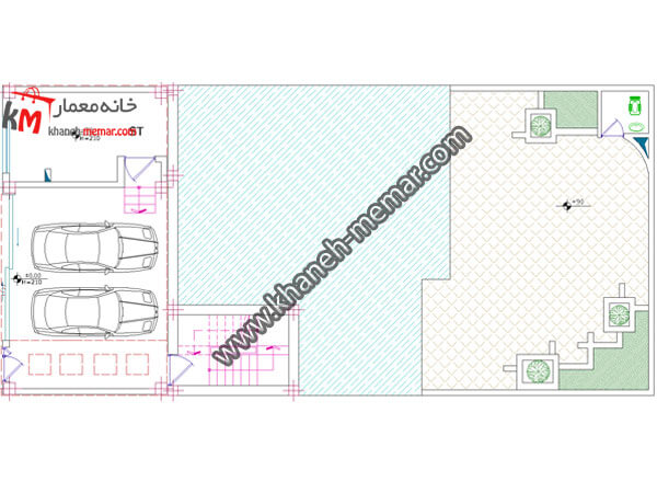 پلان دو طبقه ويلايي 361-2