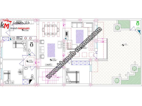 پلان دو طبقه ويلايي 361-3