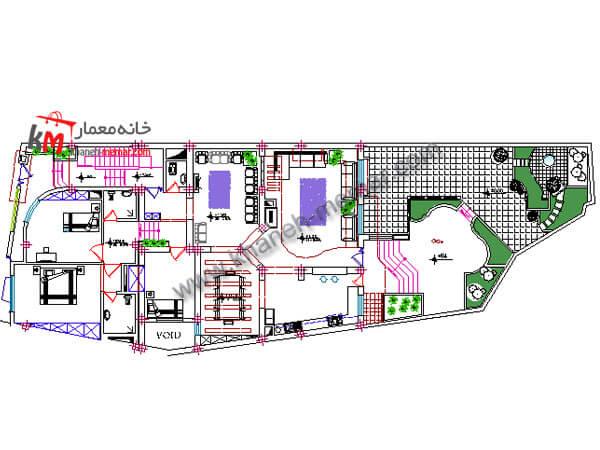پلان ویلایی رایگان |نما مدرن |پلان34.19×11 348-3
