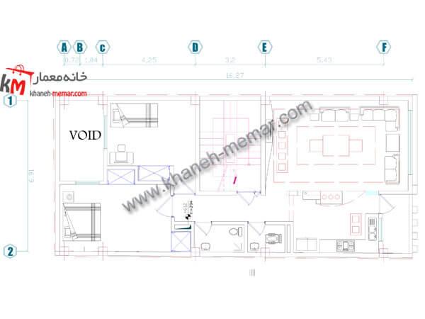 ساختمان تجاری مسکونی طبقه اول