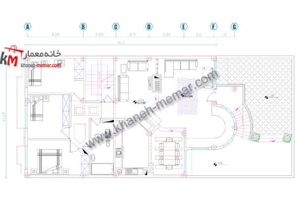 نقشه ساختمان 2 طبقه