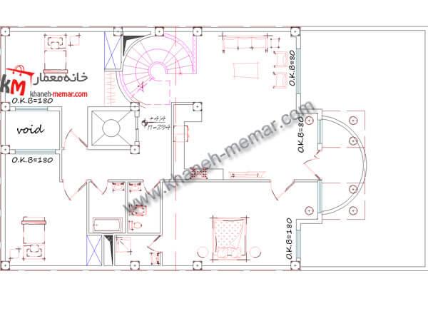 طبقه اول نقشه ساختمان دوبلکس