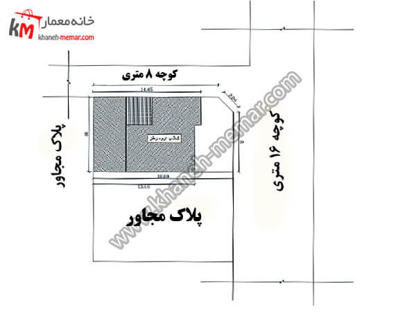 سایت پلان پروژه 383 نقشه خانه ویلایی