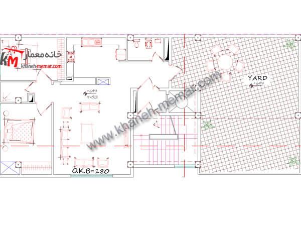 طبقه اول نقشه ساختمان تجاری مسکونی