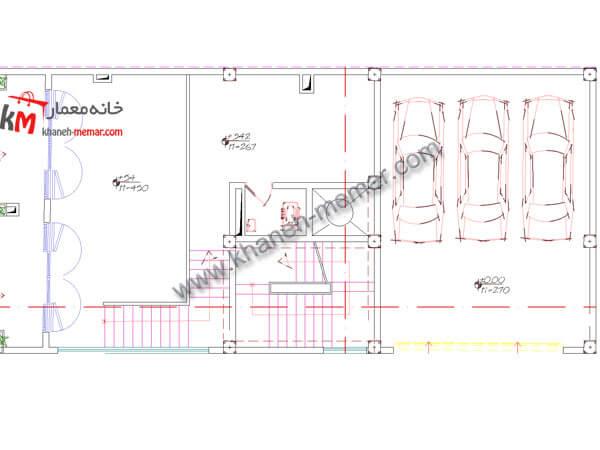 طبقه همکف نقشه ساختمان تجاری مسکونی