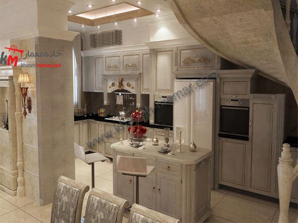 آشپزخانه نقشه ساختمان دوبلکس