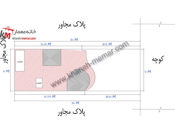 سایت پلان نقشه ساختمان 300متری