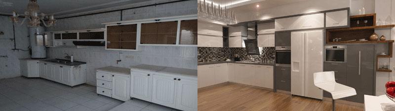 بازسازی خانه قدیمی قبل و بعد از طراحی