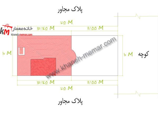سایت پلان نقشه خانه 250 متری