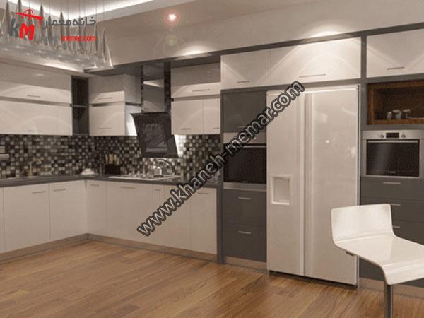 آشپزخانه پروژه در حال بازسازی طراحی دکوراسیون داحلی