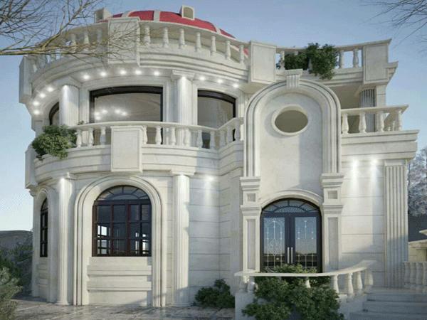 نمای ساختمان پروژه اراک بعد از طراحی
