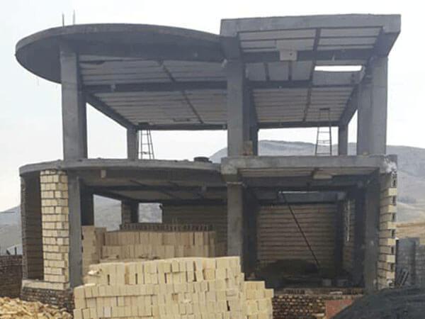 نمای ساختمان بعد از طراحی پروژه اراک