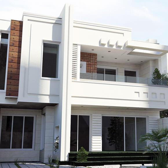 نمای مدرن خانه معمار