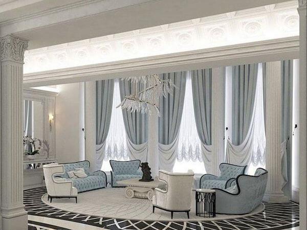 اتاق پذیرایی با طراحی زیبا