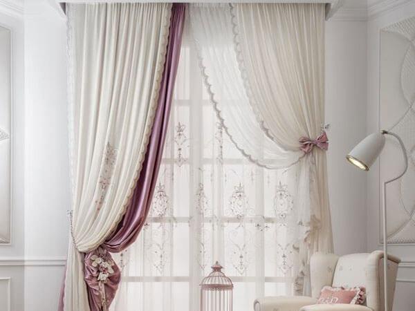 پردههای حریر اتاق خواب