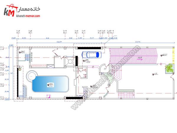 نقشه ساختمان 300 متری