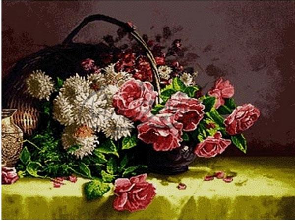 تابلوی گل بافتی خاطره انگیز
