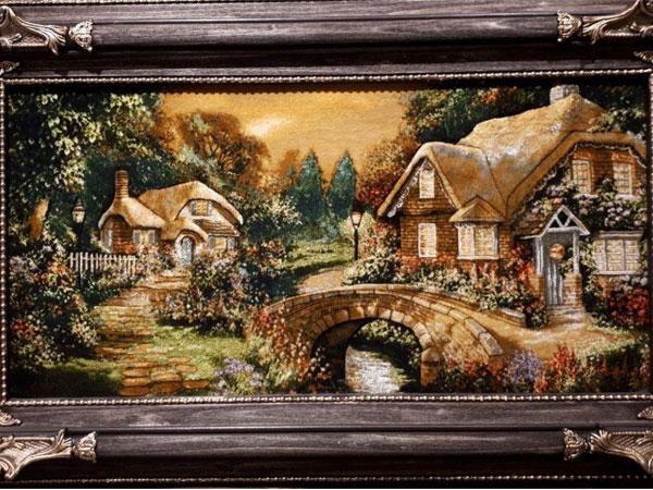 تابلو فرش از منظره و طبیعت