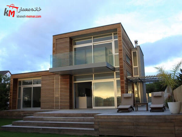 ساختمان با طراحی نمای جدید و امروزی