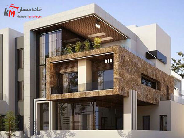 نمای ساختمان مدرن ساده و زیبا