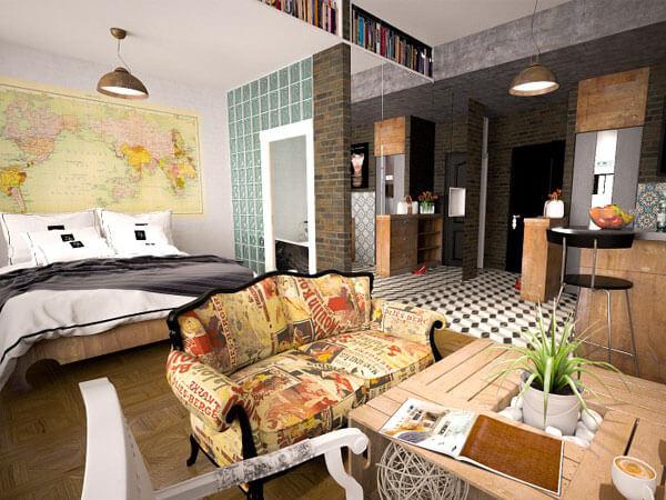 جدا کردن خواب با پارتیشن تفکیک فضای کار از محل خواب