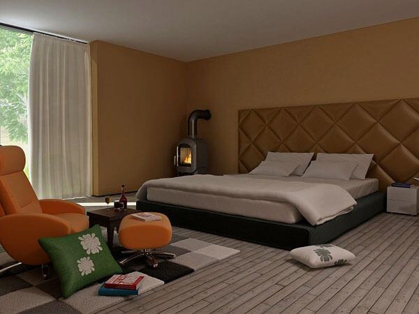 خواب با طراحی بسار ساده و زیبا ایجاد یک نقطه کانونی دنج و دلچسب