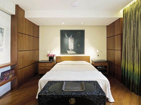 دکوراسیون اتاق از ام دی اف طرح چوب در نظر گرفتن فضای مناسب برای تخت خواب