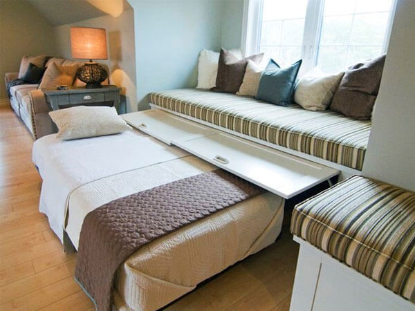 اتاق خواب رویایی شیک و زیبا آراستن پنجره های اتاق خواب