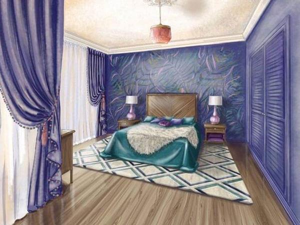 طراحی فوق العاده در دکوراسیون خواب ایجاد نظم و کم کردن رخت و پاش و بی نظمی