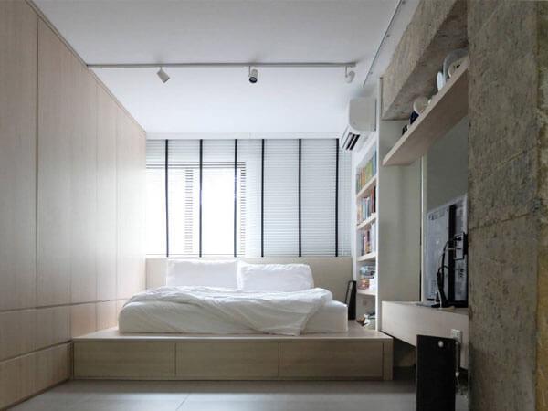 دکور اتاق با رنگ روشن ایجاد یک نقطه کانونی ساده و زیبا