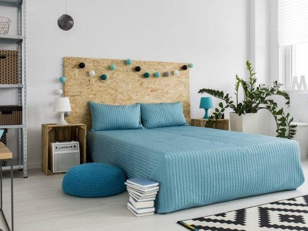 دکوراسیون اتاق خواب با رنگ آبی