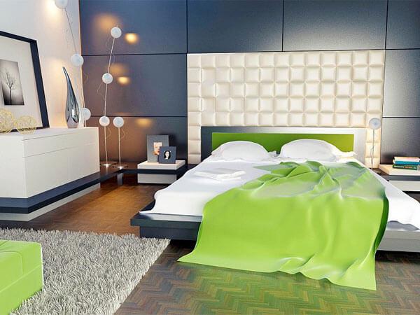 دکوراسیون اتاقها با رنگ سبز ایجاد یک نقطه کانونی