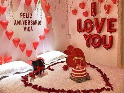 تزیین اتاق خواب عروس با رنگ قرمز
