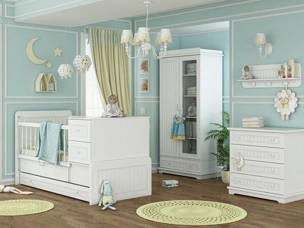دکوراسیون خواب دخترانه به رنگ سیز رنگ مناسب اتاق دخترانه