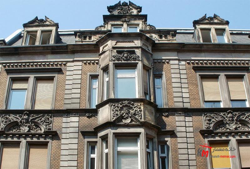 نمای ساختمان شیک و فوق العاده Classic view نمایی خاص و بی نظیر Classic view نمای کلاسیک رومی در ایران