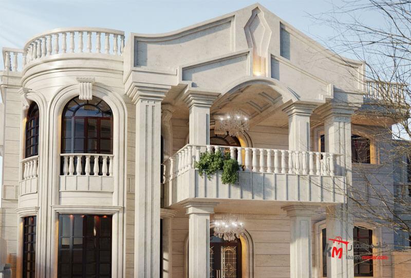 نمای کلاسیک چیست؟ نمای ساختمان دو طبقه