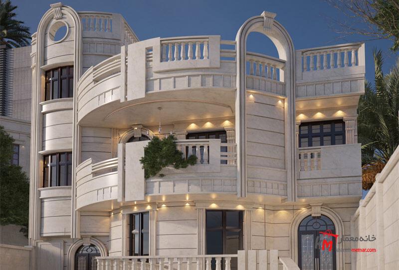 نمای سنگی ساختمان نمای کلاسیک نمای کلاسیک چیست؟ و چه ویژگی هایی دارد؟