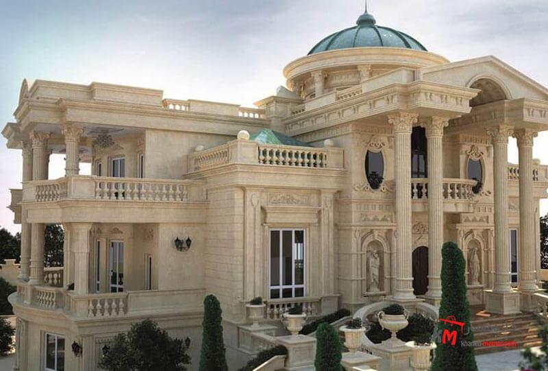 نمایی با شکوه با سردر و ستون های زیبا نمای کلاسیک چیست؟