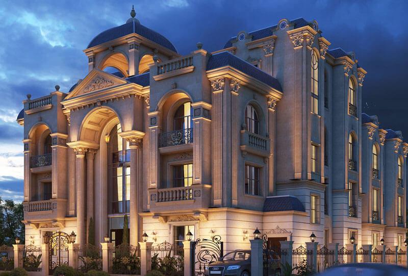 نمای فوق العاده زیبا و با شکوه Classic view نمای کلاسیک رومی در ایران