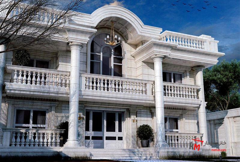 نمای ساختمان با سنگ سفید به نظر شما اشکال کار کجاست؟