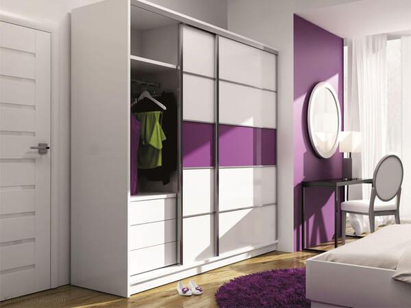 انتخاب بهترین رنگ برای کمدهای دیواری ترکیب رنگ در دکوراسیون اتاق خواب