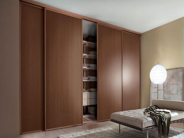 کمد رنگ چوب در اتاق خواب انتخاب بهترین رنگ برای کمدهای دیواری