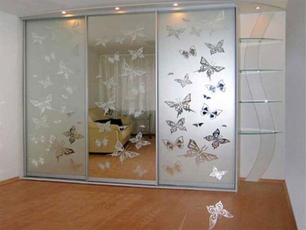 کمد دیواری کشویی با آینه بسیا شیک و زیبا کمدهای دیواری کشویی با آینه