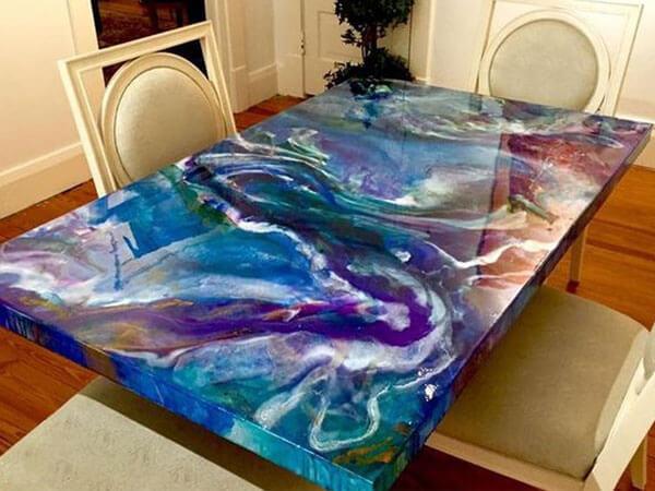 ساخت میز با رزین